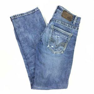 Buckle BKE womens 28 Aiden Blue Jeans Distressed